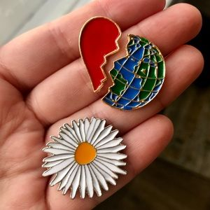 """Jewelry - 2 for $18❤️ """"Planet Love"""" Pin Set of 3"""